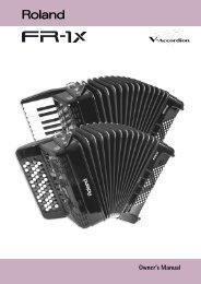 FR-1x Owner's Manual - Castiglione Accordions