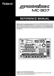 Manual for the 307 - Roland
