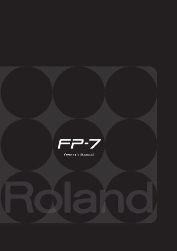 Owners Manual (FP-7_OM.pdf) - Roland