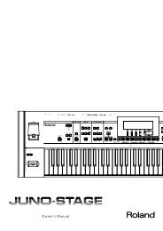 Owners Manual (JUNO-STAGE_OM.pdf) - Roland