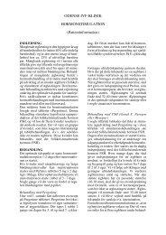 ODENSE IVF-KLINIK HORMONSTIMULATION (Patientinformation)