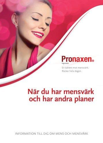 När du har mensvärk och har andra planer - Pronaxen