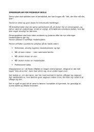 OMSORGSPLAN FOR FRISHOLM SKOLE Denne plan skal opfattes ...