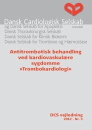 Trombokardiologi - Dansk Selskab for Klinisk Biokemi