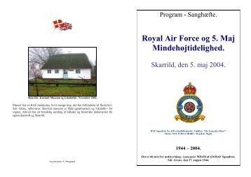 Royal Air Force og 5. Maj Mindehøjtidelighed. - Allierede flyvere ...