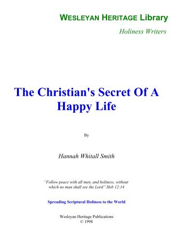 The Christian's Secret Of A Happy Life - Media Sabda Org