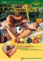 SommEr/hErbSt 2007 PrEISE & PauSchalEn