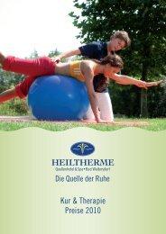 Kur & Therapie Preise 2010 - Schneemenschen GmbH