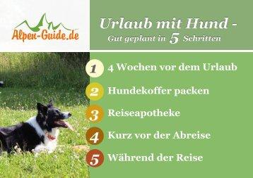 Checkliste - Urlaub mit Hunden