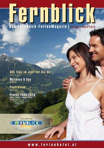 Das Fernblick-FerienMagazin | Ausgabe 2009/2010