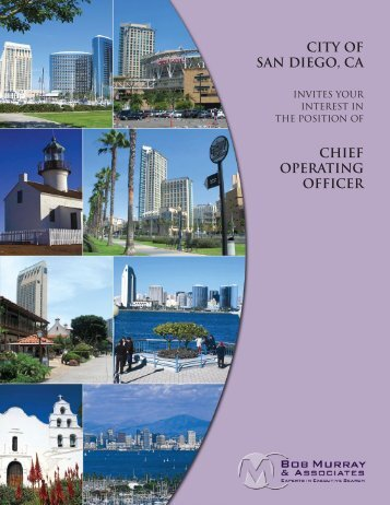 CITY OF SAN DIEGO, Ca CHIEF OPERATING OFFICER
