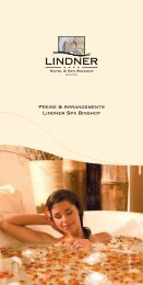Preise & Arrangements Lindner Spa Binshof - Wellness Interaktiv