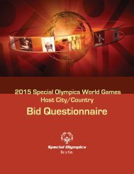 2015 Games Questionnaire.indd - Special Olympics