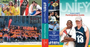 Participation Guide - Special Olympics