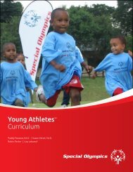 Young Athletes™ Curriculum - Special Olympics