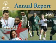 2006 Annual Report - Special Olympics