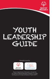Youth Leadership Guide - Special Olympics