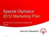 2012 Marketing Plan - Special Olympics
