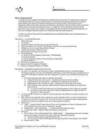 Reglas Equitación Reglas Oficiales de Deportes ... - Special Olympics