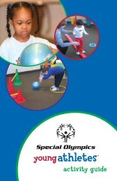 Activity Guide for Young Athletes 2012 (PDF) - Special Olympics