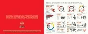 Special Olympics Reach Report 2011 Summary