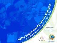 2 teams - Special Olympics