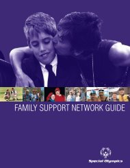 Family Support Network Guide - Special Olympics