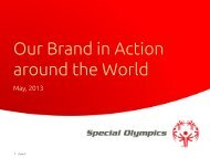 Aligning the Special Olympics Brand