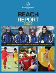 Reach Report 2009.indd - Special Olympics