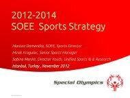 2012 -2014 SOEE Sports Strategy (PDF) - Special Olympics