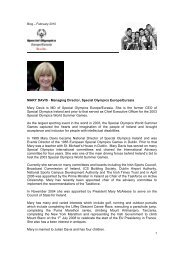 MARY DAVIS - Managing Director, Special Olympics Europe ...