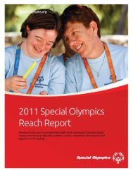 2011 Reach Report - Special Olympics