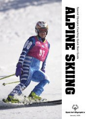 Alpine Skiing Quick Start Guide - Special Olympics