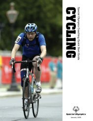 Cycling Quick Start Guide - Special Olympics