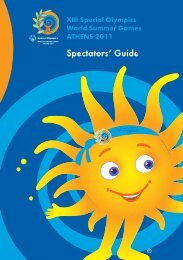Spectators' Guide - Special Olympics