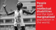 People with intellectual disabilities are the most ... - Special Olympics
