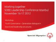 Working together SOEE Leadership Conference ... - Special Olympics