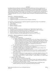 SOFTBOL Las Reglas Oficiales de Deportes de ... - Special Olympics