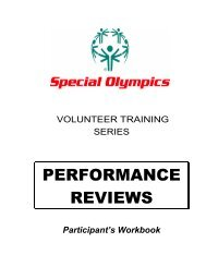 Performance Review - Special Olympics