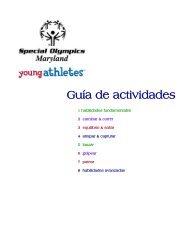 Lista de Actividades (PDF) - Special Olympics