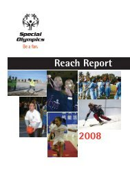 Reach Report 2008 - Special Olympics