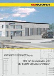 800 m³ Raumgewinn mit SSI SCHÄFER Locatorenlager