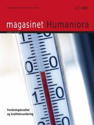magasinet Humaniora - arkiv
