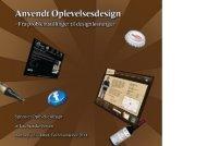 Anvendt Oplevelsesdesign - Aalborg Universitet