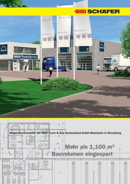 Mehr als 1.100 m³ Bauvolumen eingespart - SSI Schäfer