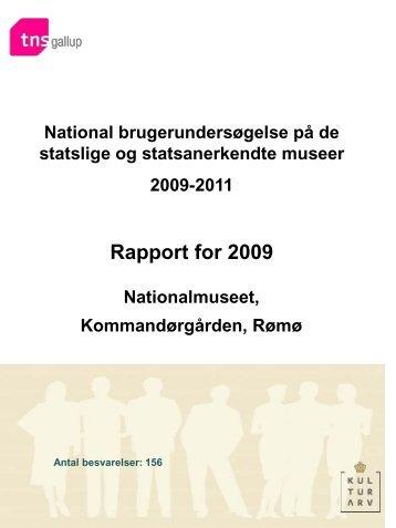 Brugerundersøgelse 2009 - Nationalmuseet