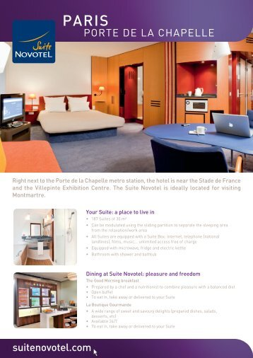 suitenovotel.com PORTE DE LA CHAPELLE - Suite Novotel hotels