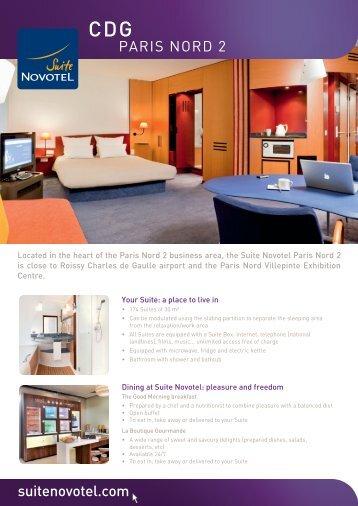 suitenovotel.com PARIS NORD 2 - Suite Novotel hotels