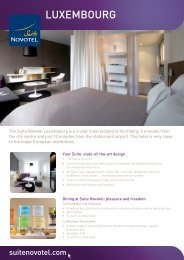 LUXEMBOURG - Suite Novotel hotels