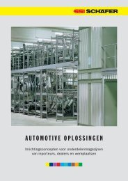 Magazijninrichting voor automotive - SSI Schäfer